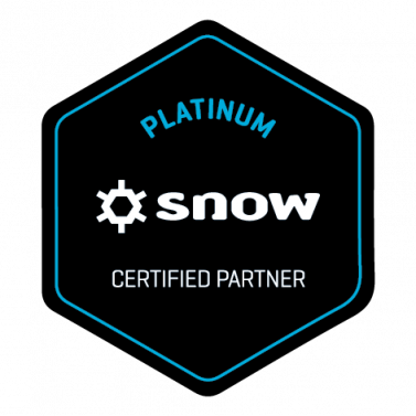 Snow software platinum partner status badge